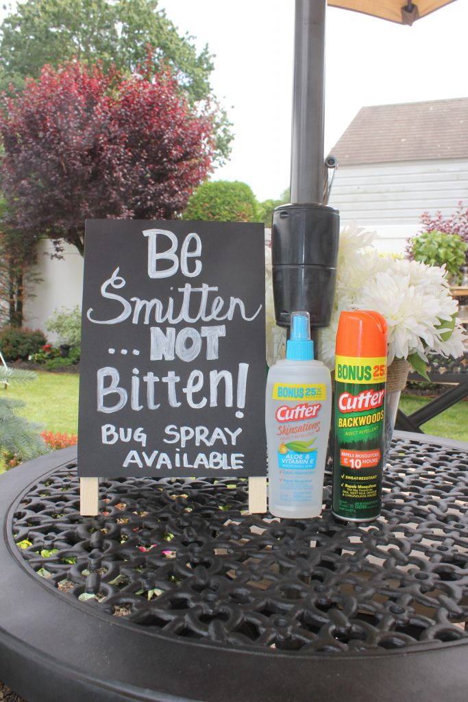 Accommodate your guests with bug spray