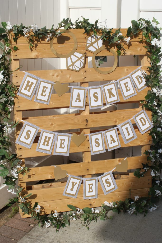 Romantic & Rustic Party Decoration for Engagement Party or Bridal Shower