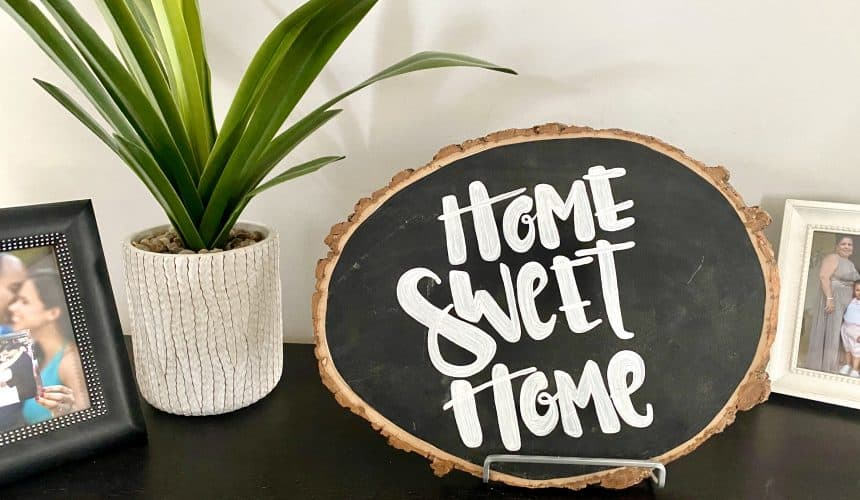 DIY Tutorial: Rustic Home Sweet Home Sign