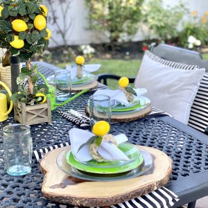 Vibrant Lemon Tablescape for Your Patio