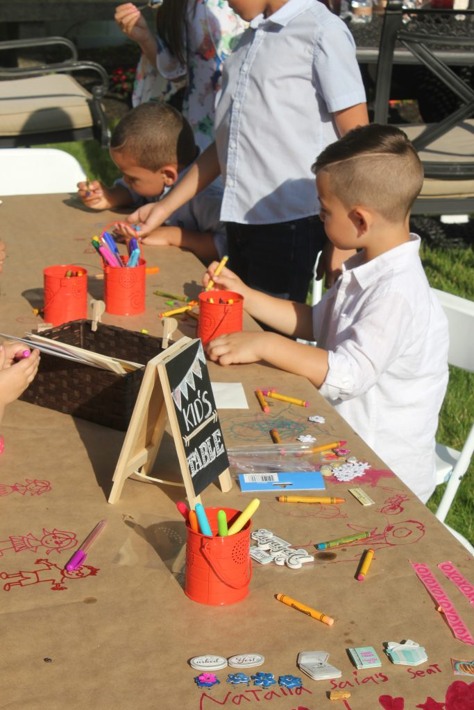 Fun kids table activities to keep them busy.