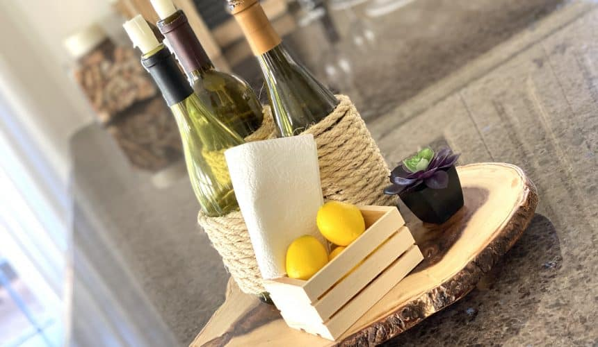 DIY Tutorial: Simple Wine-Themed Centerpiece