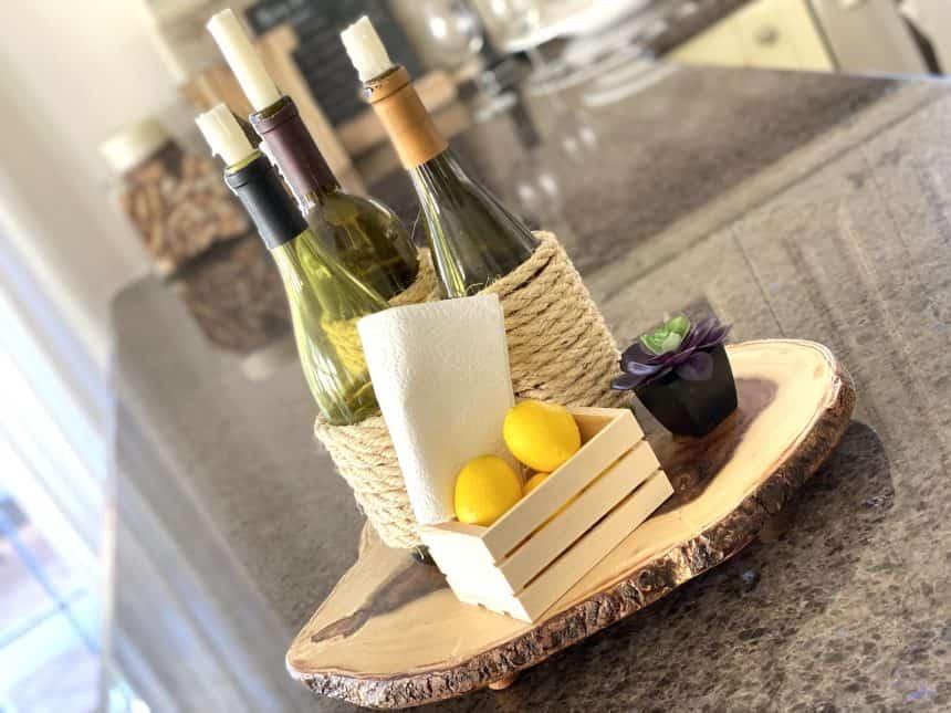 DIY Tutorial: Simple Wine-Themed Centerpiece