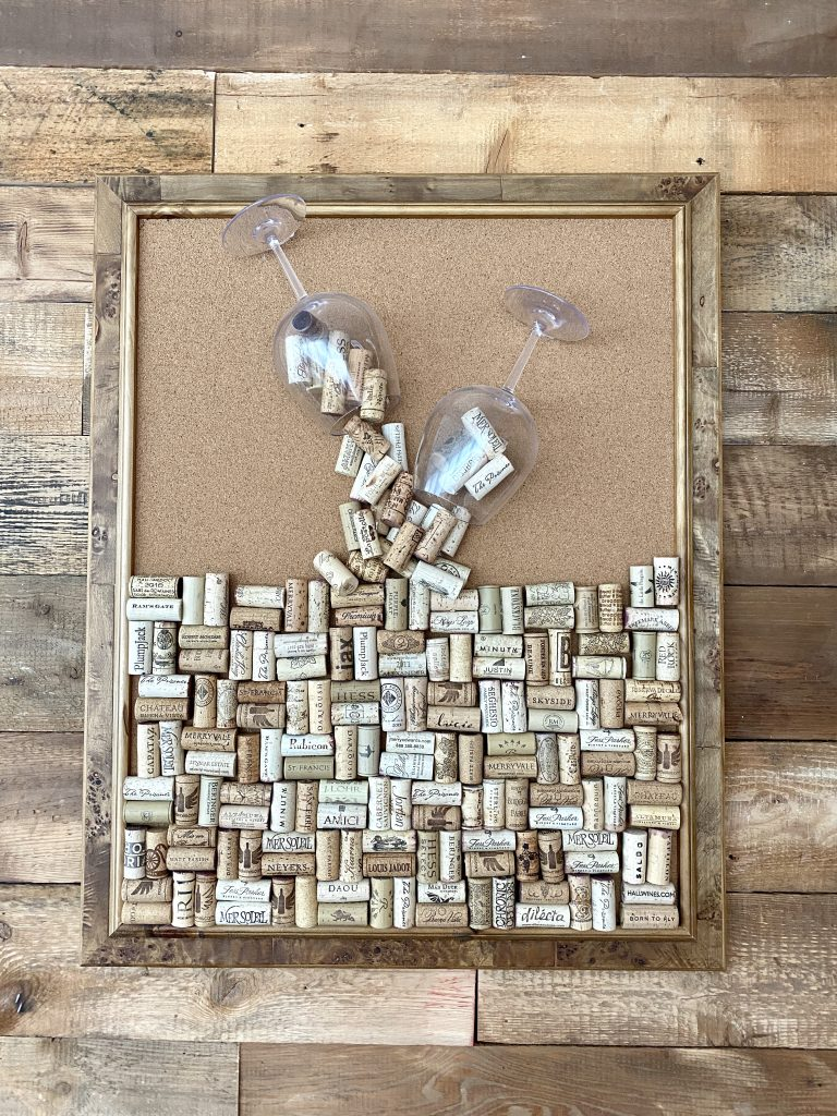 3d wine cork wall art