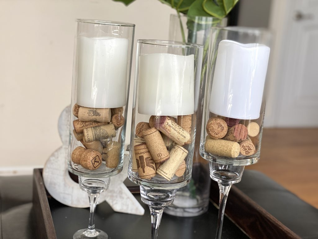 Easy candle holders