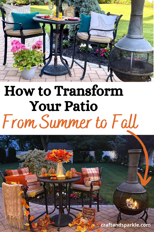 how to transform your patio from summer to fall