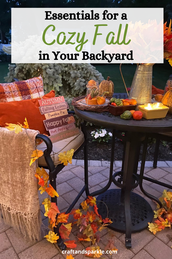 Essentials for a cozy fall in your backyard