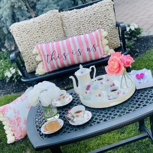 Gorgeous Vintage Tea Time From Upcycled Items