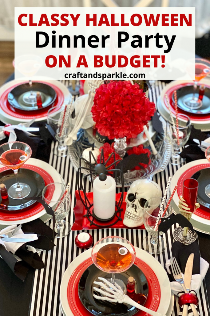 Classy Halloween dinner party on a budget.