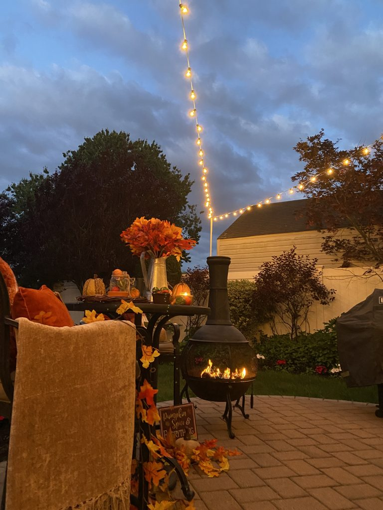 easy patio decor for the fall