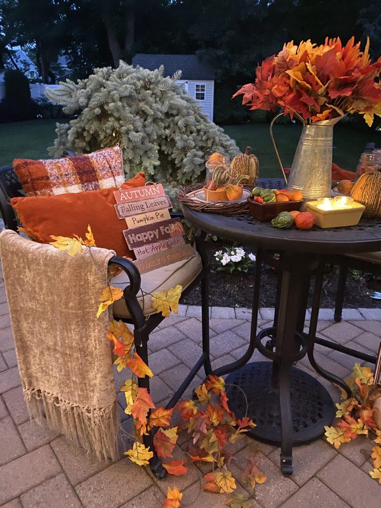 easy patio decor for fall