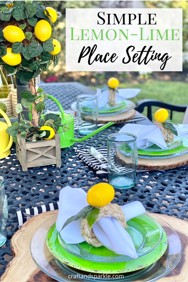 Easy patio decor for summer parties.