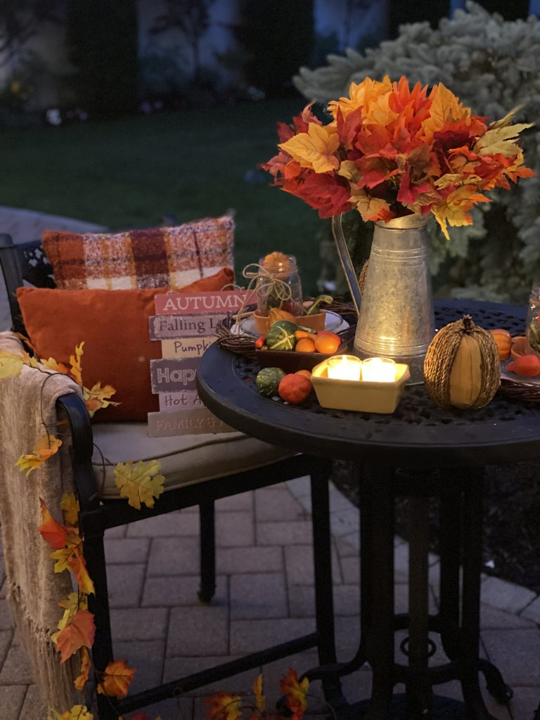 easy fall decor for your patio