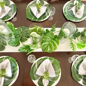 How You Can Throw An Elegant Indoor Tropical Dinner Party