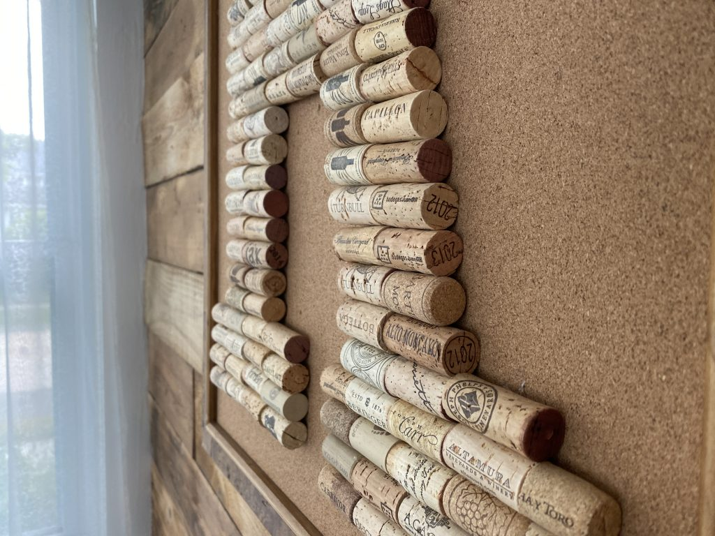 Monogram Wine Cork Wall Art