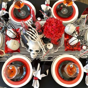 A Gory-Chic Halloween Dinner Party For Adults