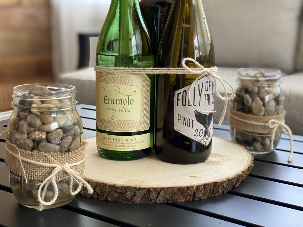 Use empty wine bottles for DIY projects.