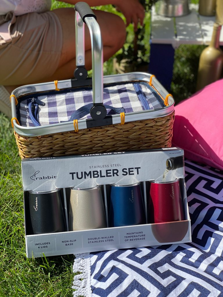 Use these wine tumblers to keep your wine from spilling on the ground.