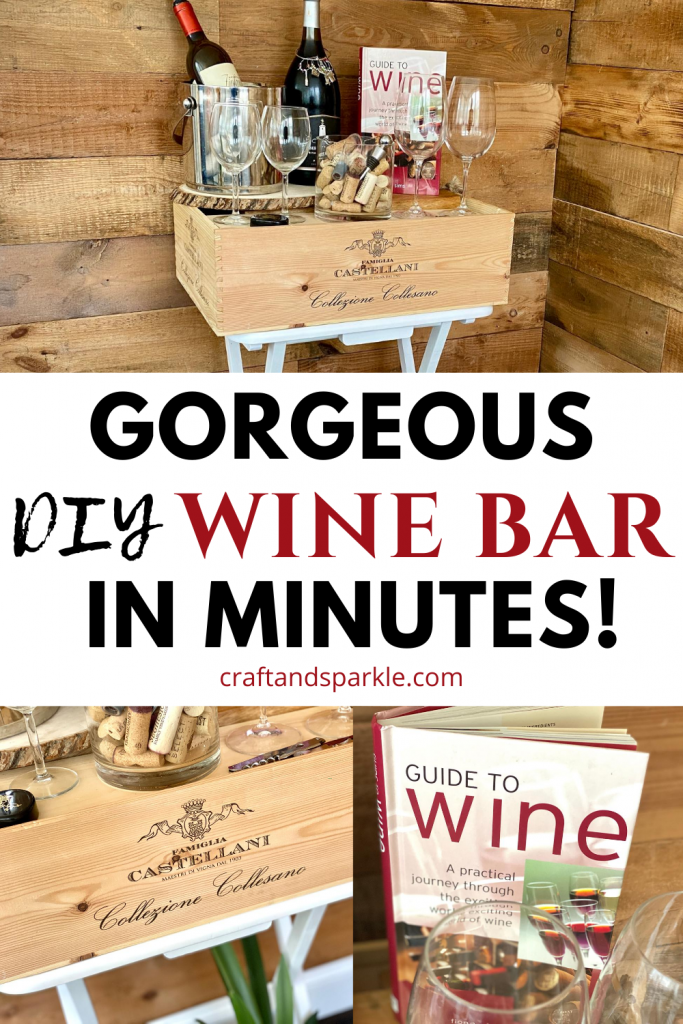 Simple wine bar for parties.