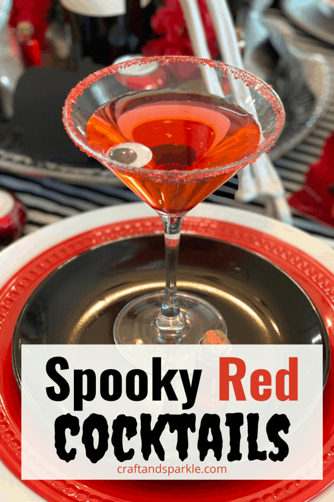 Spooky red cocktail recipes for Halloween.
