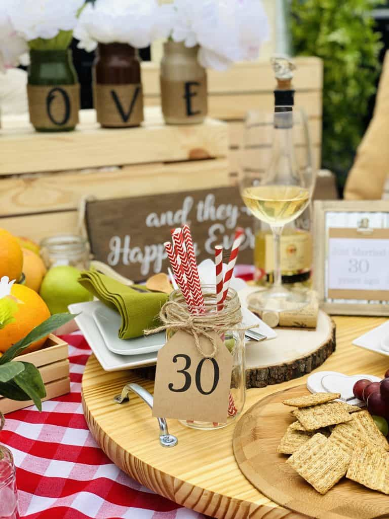 Wedding anniversary picnic.