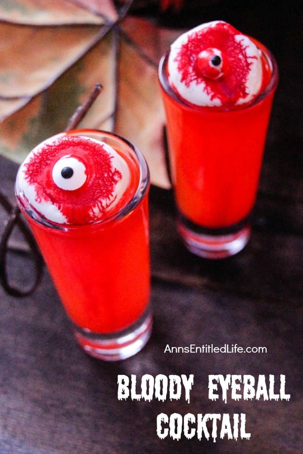 Stick an eyeball into the cocktail for a spooky look.