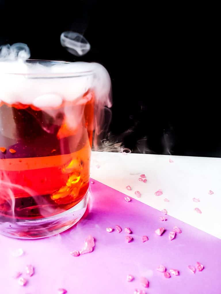 Add dry ice for a scary Halloween drink.