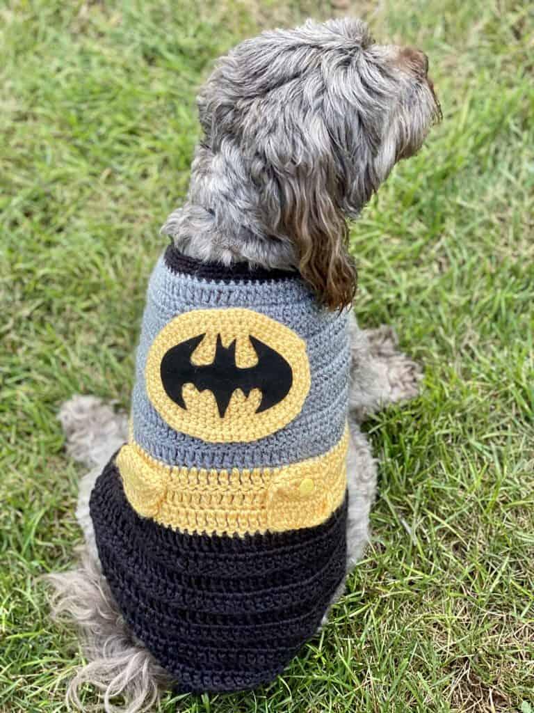 batman crochet costume for dogs