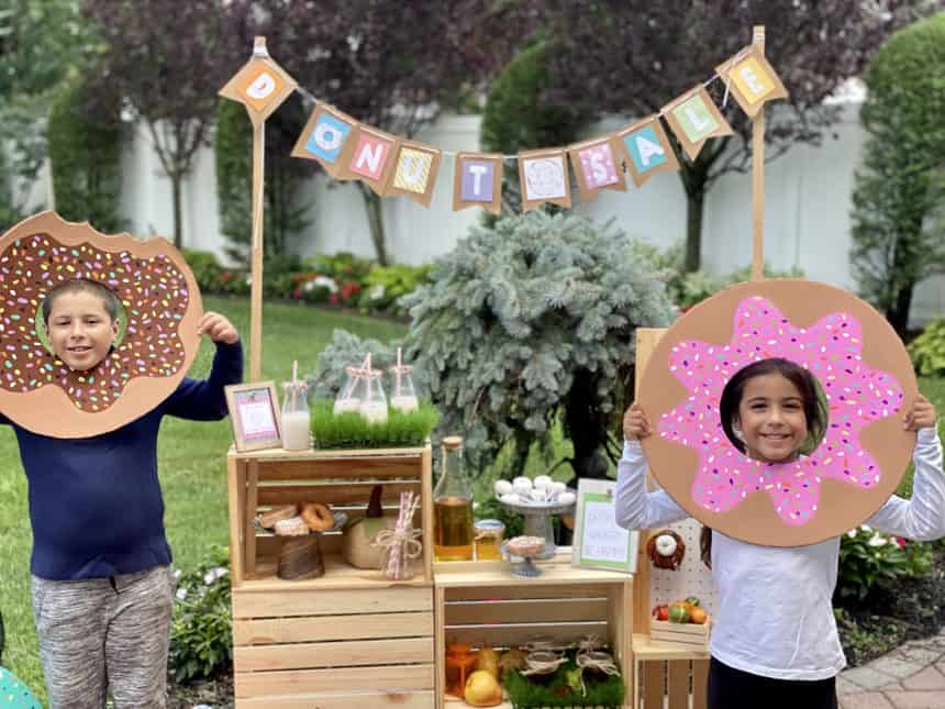 Donut Sale! How to Prep a Cute Donut Stand for the Fall