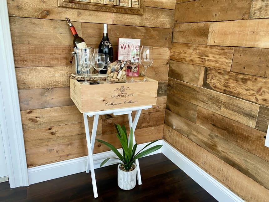 How to Make a Simple Wine Bar for Small Spaces