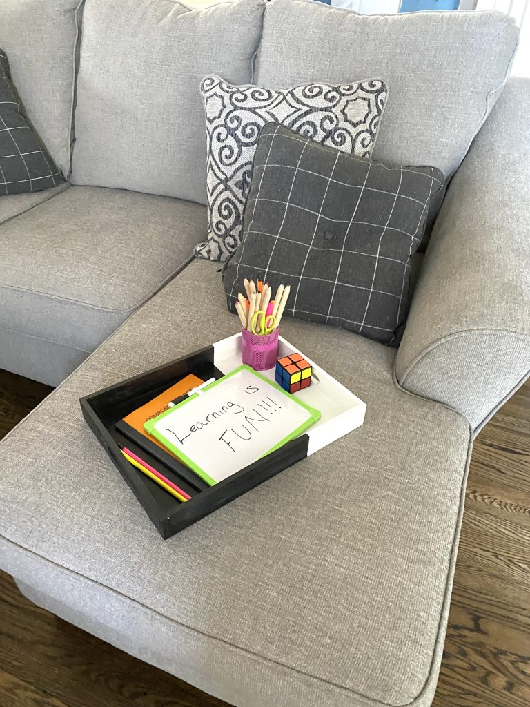 Homeschool set up for small spaces