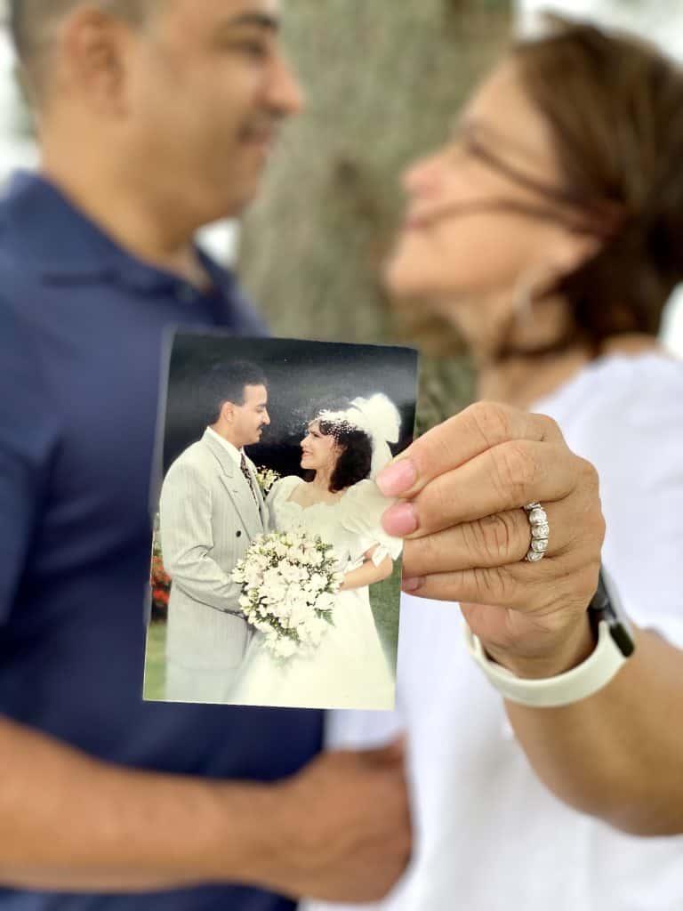 Wedding anniversary photoshoot props.