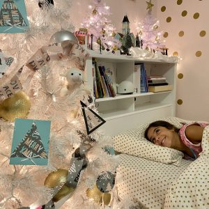 Sparkly Bedroom Christmas Tree for Little Girls