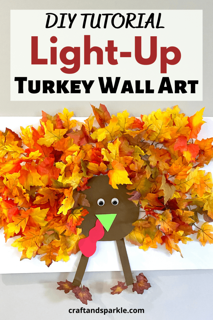How to make a light-up Turkey wall art.
