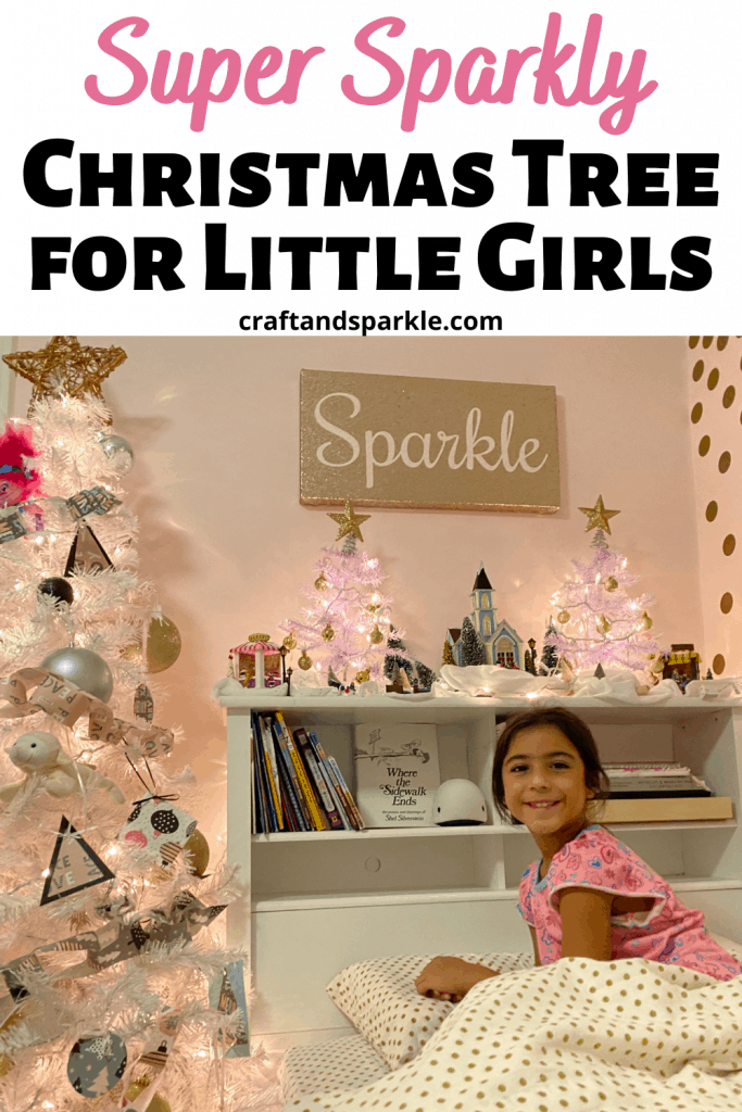 Pink and gold Christmas tree for little girls.