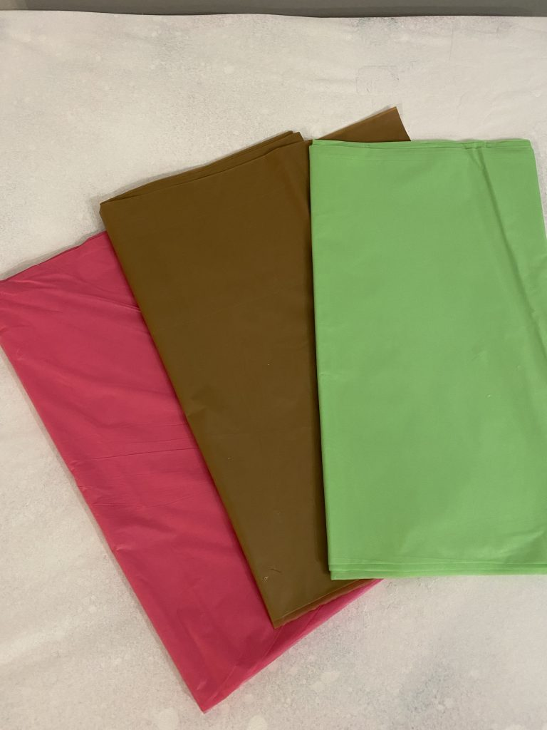 Plastic tablecloths from Dollar Tree.