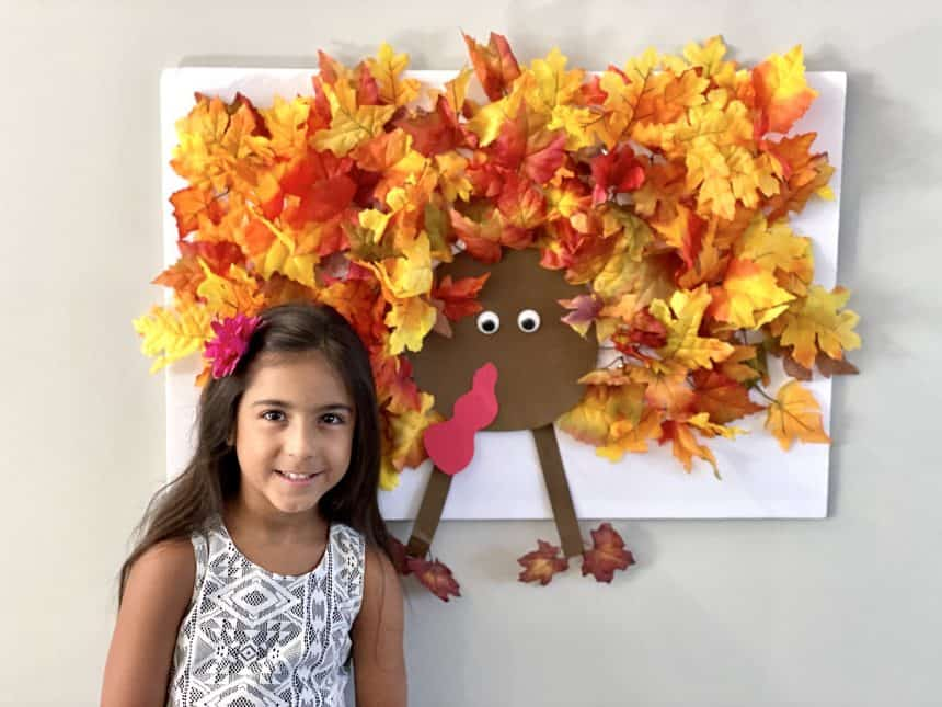 DIY Light Up Thanksgiving Turkey Wall Art & Game