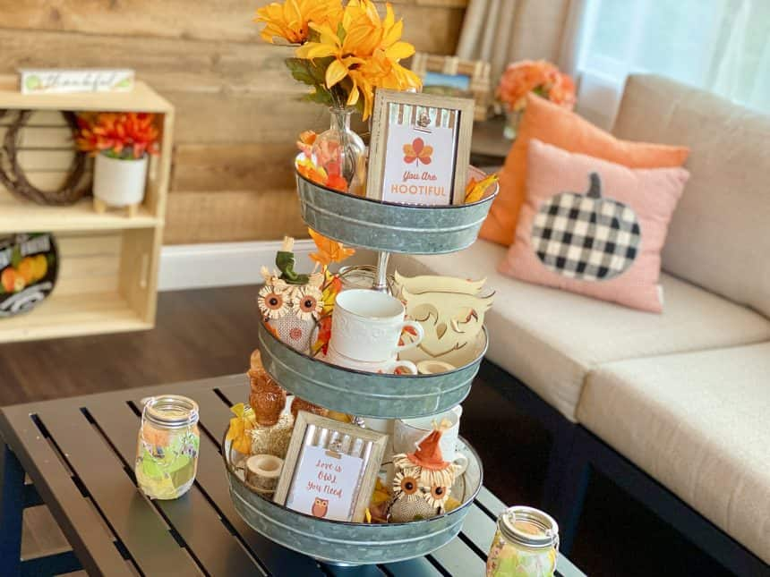 Super Sweet Owl Themed Tiered Tray