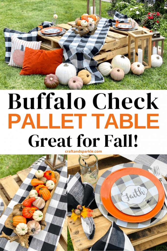 Buffalo check Pallet Table setting