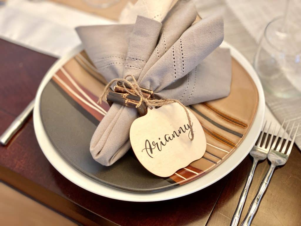 Neutral colored place setting