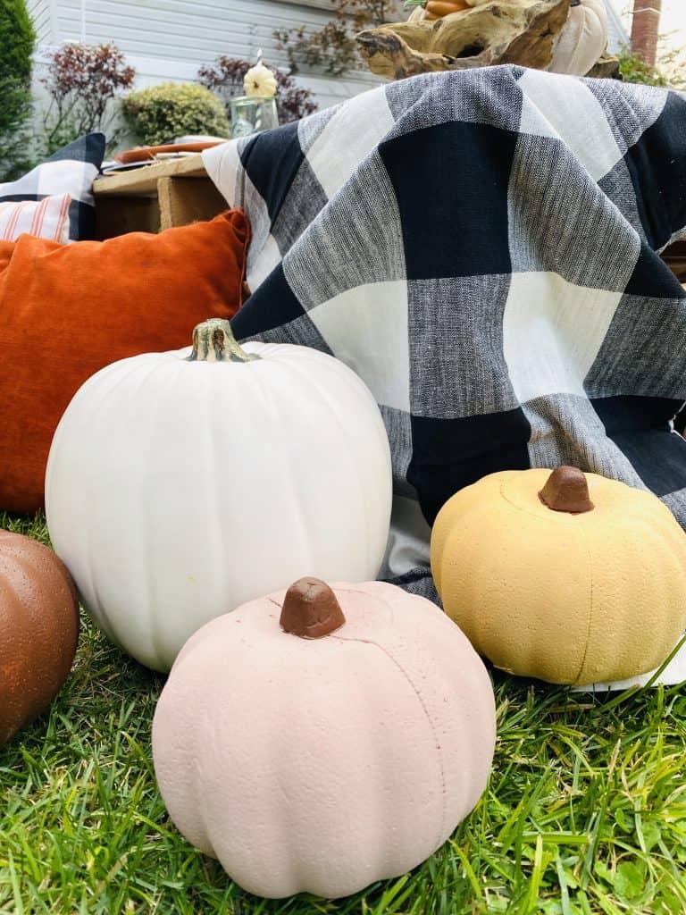 DIY pumpkins from Dollar Tree