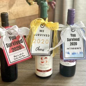 "Free Printable: Hilarious ""We Survived 2020"" Wine Tags"