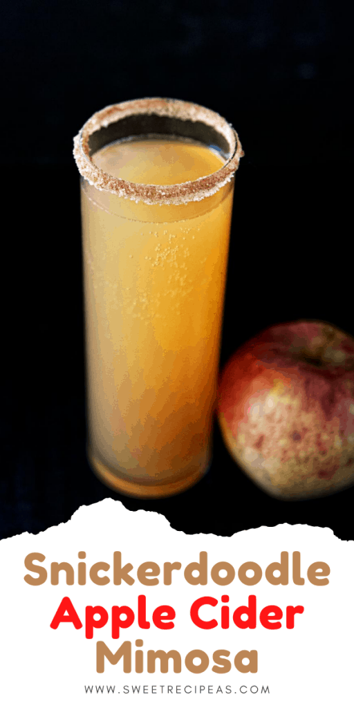 Snikerdoodle Apple Cider Mimosa