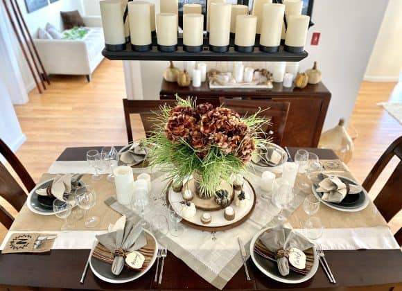 Elegant Earth Tone Thanksgiving Tablescape