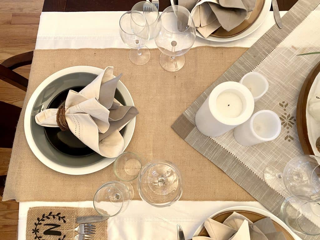 Earthtone table runner