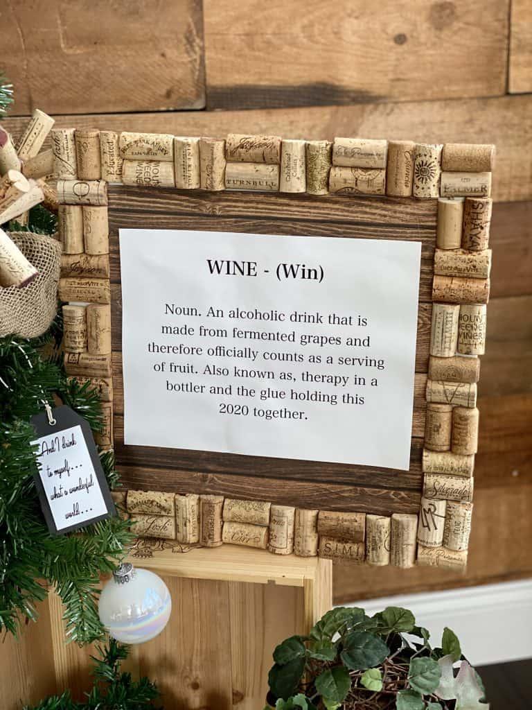 Funny wine frame