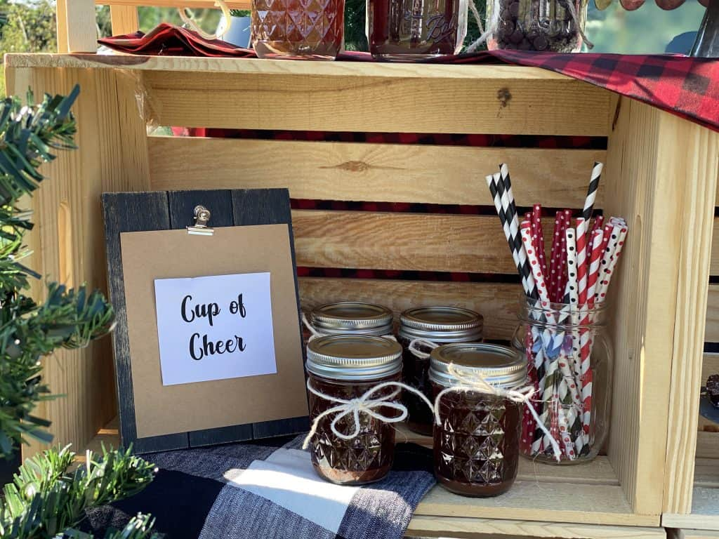 hot cocoa stand decor