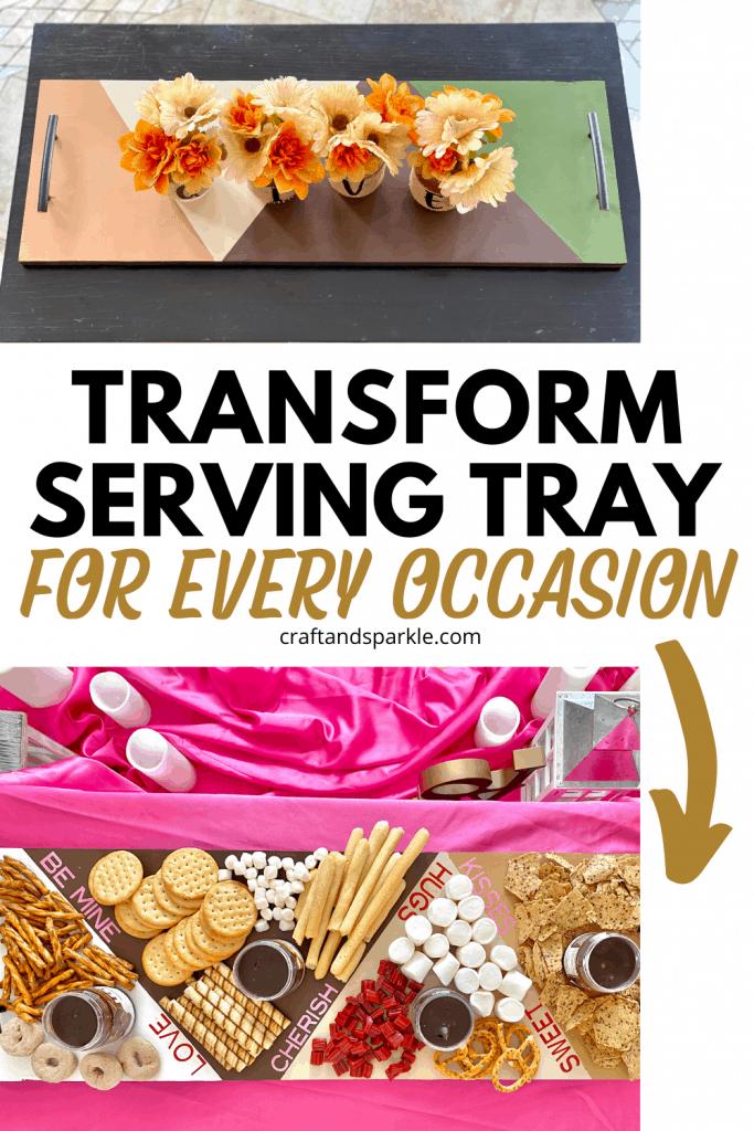 custom serving tray