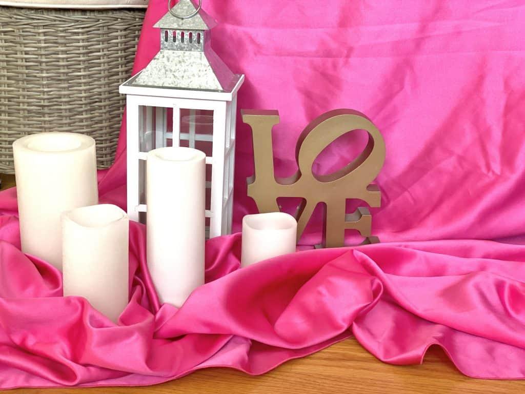 romantic set-up at home