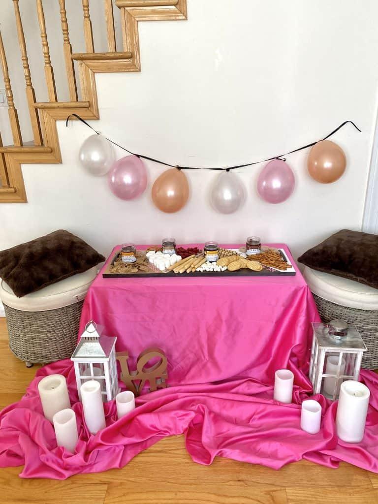 romantic set up at home